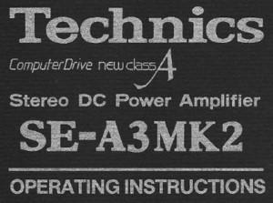 Adrian-Kingston com - Technics SE-A3MK2
